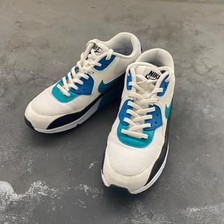 ナイキ(NIKE)のナイキ エアマックス 90 ホワイト/ブルー(スニーカー)