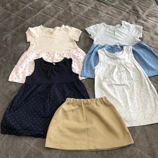 MUJI (無印良品) - 無印良品子ども服セット(女の子80サイズ)