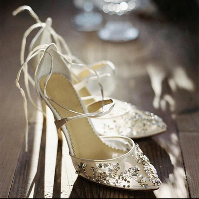 ブライダルシューズ レディースのフォーマル/ドレス(ウェディングドレス)の商品写真