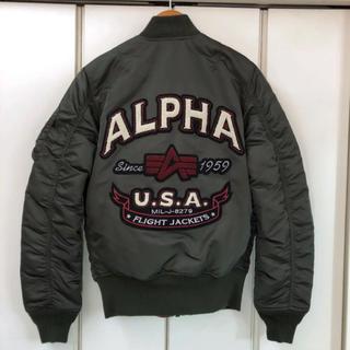 アルファ(alpha)の新品!ALPHA MA-1 TIGHT Back Embroidery(フライトジャケット)