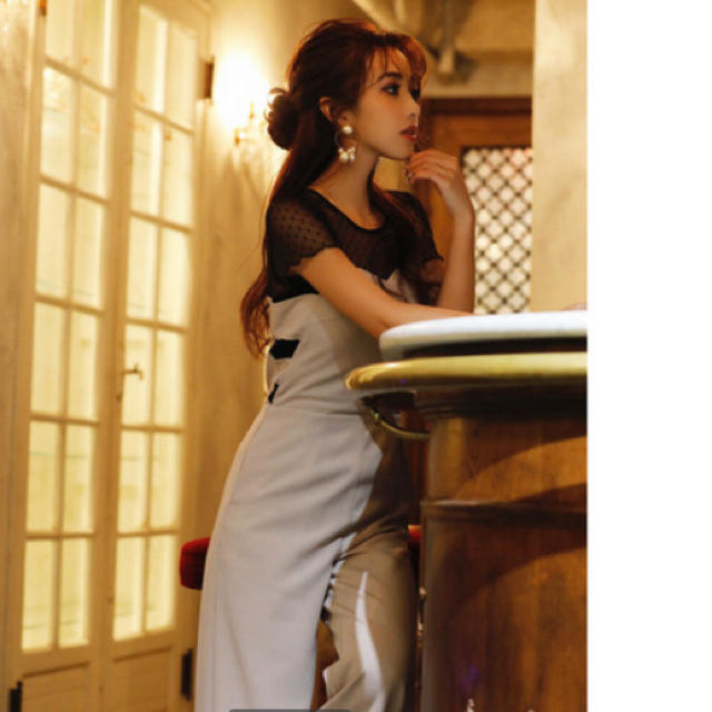 eimy istoire(エイミーイストワール)のeimy istoire ドットチュールオールインワン  レディースのパンツ(オールインワン)の商品写真