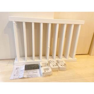日本育児 - タンスのゲン ベビーサークル 木製 ベビーフェンス ホワイト