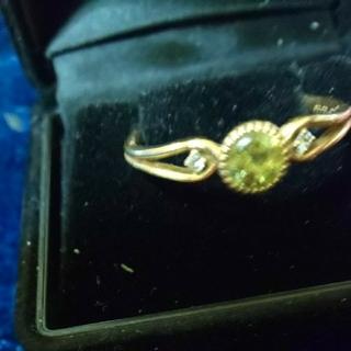 K18YGマリガーネットの指輪19号(リング(指輪))