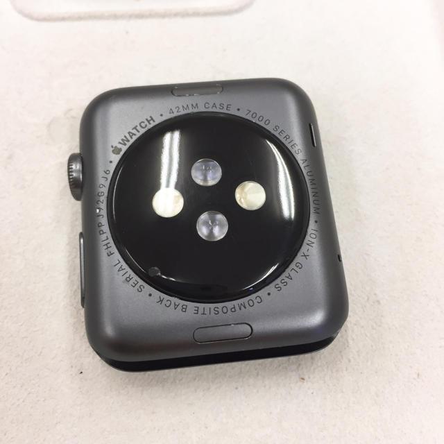 Apple Watch(アップルウォッチ)のApple Watch SPORT 42mm グレー色 アップルウォッチ スマホ/家電/カメラのスマートフォン/携帯電話(その他)の商品写真