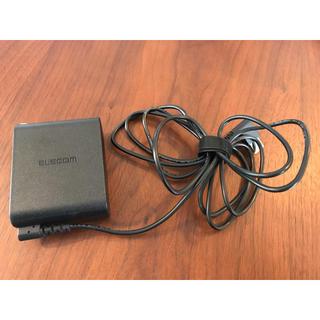 エレコム(ELECOM)の美品 ELECOM エレコム 充電器 コンパクト(バッテリー/充電器)