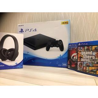 PlayStation4 - 【稼働良好‼️】ps4  スリム ソフト2本 ヘッドホン セットオマケ付‼️