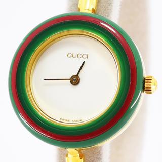 Gucci - グッチ 時計 クォーツチェンジベゼル 交換用ベゼル付 11/12.2 SS GP