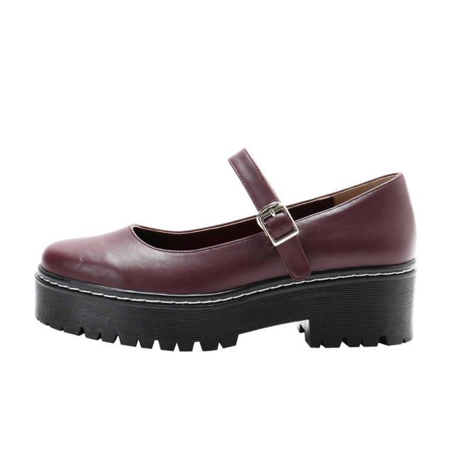 merry jenny(メリージェニー)のストラップラバーソールパンプス レディースの靴/シューズ(ローファー/革靴)の商品写真