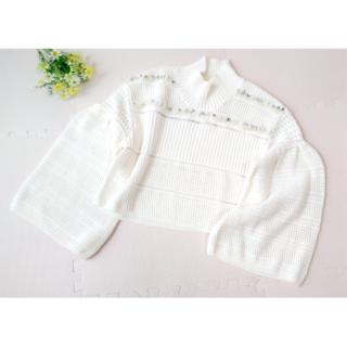 ファーファー(fur fur)の【FURFUR】 透かし編み&編み込みセーター(ニット/セーター)
