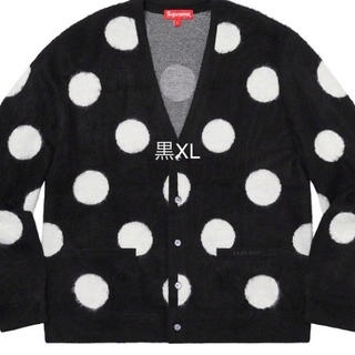 Supreme - Supreme Brushed Polka Dot Cardigan 黒XL