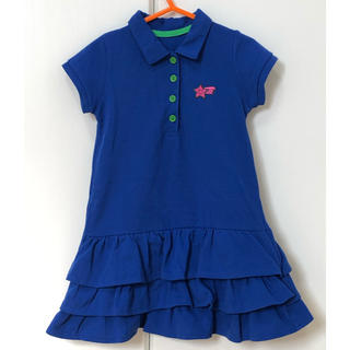 フェリシモ(FELISSIMO)のフェリシモ キッズ ポロシャツ ワンピース 青 100cm(ワンピース)