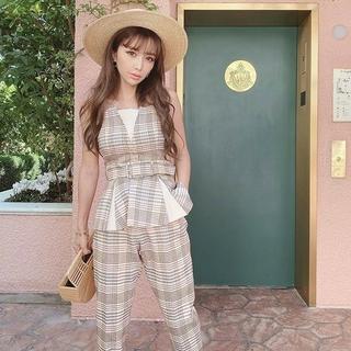 eimy istoire - 激レア★eimy istoire スプリングチェックペプラムトップス   ピンク