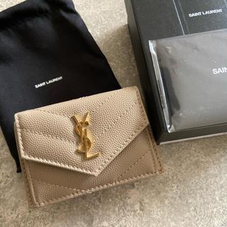 Saint Laurent - 新品イヴサンローラン ミニウォレット 三つ折り財布