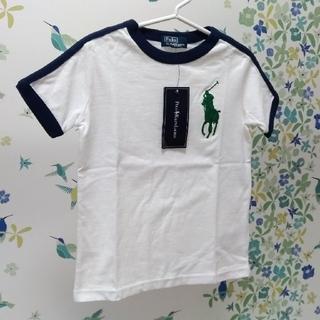 POLO RALPH LAUREN - 新品タグ付:ポロラルフローレン白Tシャツ100