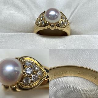 ディオール(Dior)の●DIOR k18  ダイヤモンド パール リング(リング(指輪))