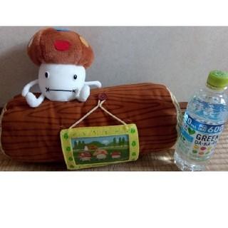 エヌティティドコモ(NTTdocomo)のドコモダケ フォトフレームー 丸太 ぬいぐるみ(キャラクターグッズ)
