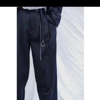 UNUSED - 20ss URU(ウル)/STRAIGHT PANTS/Black/size1