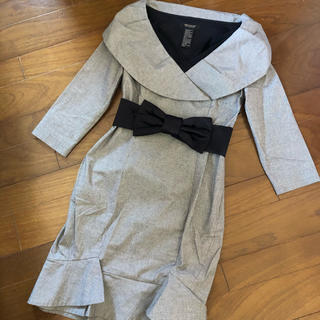 ダブルスタンダードクロージング(DOUBLE STANDARD CLOTHING)のダブルスタンダードクロージング バニラクチュール リボンベルト付きワンピース(ひざ丈ワンピース)