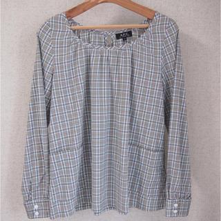 アーペーセー(A.P.C)のA.P.C.チェックスモック型シャツ(シャツ/ブラウス(長袖/七分))