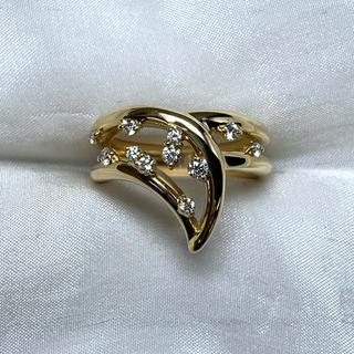 ●星の砂 k18  ダイヤモンド 個性的 リング(リング(指輪))