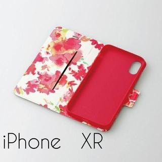 ELECOM - iPhone XR ケース 手帳型 レザー ウルトラスリムフラワー