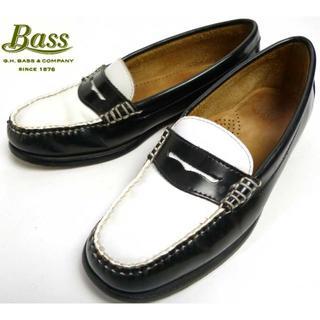 ジーエイチバス(G.H.BASS)のバス BASS 2トーン コイン(ペニー)ローファー 6 1/2M(23.5cm(ローファー/革靴)
