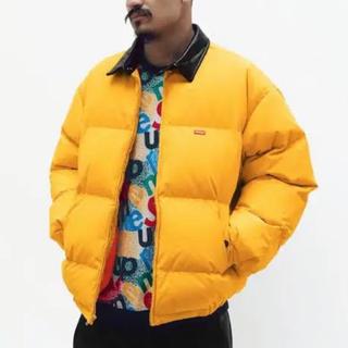Supreme - supreme ダウン Leather Collar Puffy Jacket