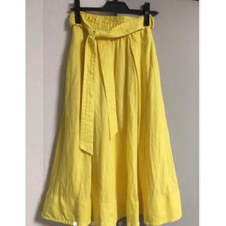 ミラオーウェン(Mila Owen)のミラオーウェン麻ロングスカート(ロングスカート)