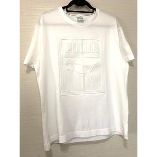 プーマ(PUMA)のPUMA。ロゴ 型押し Tシャツ。美品!(Tシャツ/カットソー(半袖/袖なし))