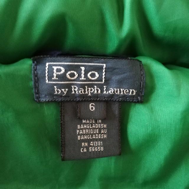 POLO RALPH LAUREN(ポロラルフローレン)の美品 Polo Ralphlauren ポロラルフローレン ダウンジャケット キッズ/ベビー/マタニティのキッズ服男の子用(90cm~)(ジャケット/上着)の商品写真