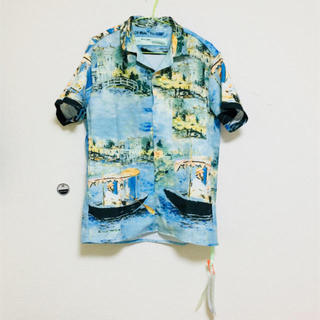 OFF-WHITE - 国内正規品 オフホワイト 19SS レイクプリントコットン半袖シャツ