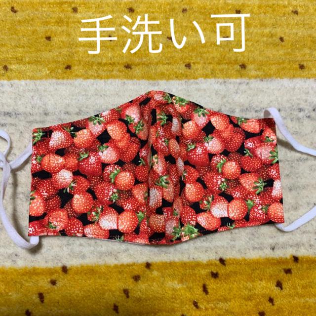 マスク エビデンス | ハンドメイド立体マスク 苺柄の通販