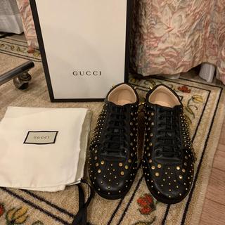 グッチ(Gucci)の新品未使用品 希少品 Gucci グッチ レザースニーカー タイガーヘッド(スニーカー)
