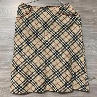 BURBERRY BLUE LABEL - BURBERRY バーバリー ロングスカート スカート ミニスカート 膝丈