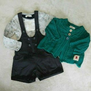 ビケット(Biquette)の女の子 キムラタン 90、95 3点セット(Tシャツ/カットソー)