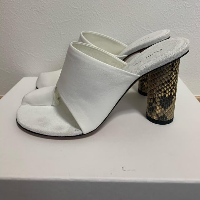 celine(セリーヌ)の試着のみ未使用 付属品付き CELINE セリーヌ サンダル ミュール パイソン レディースの靴/シューズ(サンダル)の商品写真