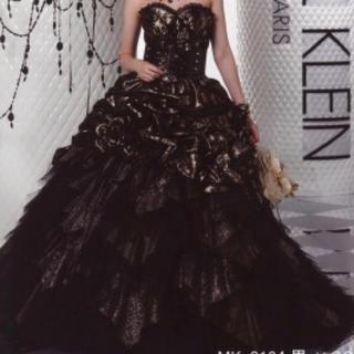 MICHEL KLEN  ブラックシルバーレース(ウェディングドレス)