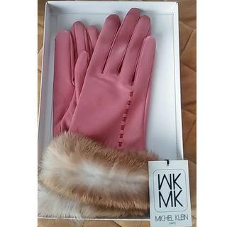 MK MICHEL KLEIN - ミッシェルクラン レザー手袋