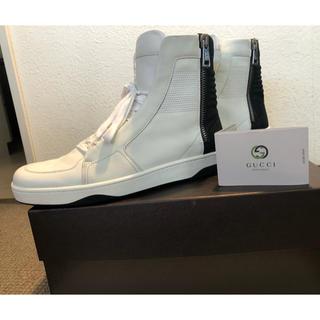 Gucci - グッチハイカットスニーカー ホワイト×ブラック