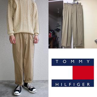 トミーヒルフィガー(TOMMY HILFIGER)の90s TOMMY HILFIGER ツータック ワイドチノパンツ メンズ(チノパン)