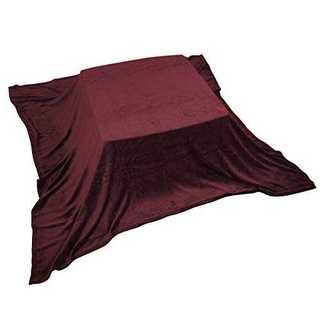 レッドこたつ中掛け毛布 マイクロファイバー素材 大判 正方形 210×210cm(カーペット)