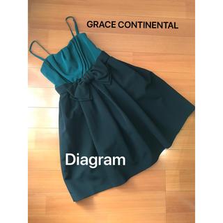 グレースコンチネンタル(GRACE CONTINENTAL)のGRACE CONTINENTAL ワンピース パーティードレス(ミニドレス)