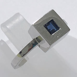 agete - アガット agete サファイア リング 指輪 k18wg ホワイト