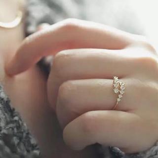 11号AAA級CZダイヤモンド!ライトゴールドエタニティリング(リング(指輪))
