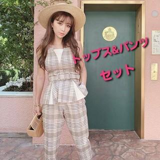 eimy istoire - 激レア★ eimy スプリングチェックトップス&パンツ