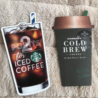 Starbucks Coffee - 2点 スターバックス 新作商品説明のカード