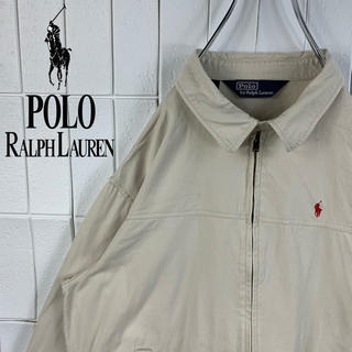 ポロラルフローレン(POLO RALPH LAUREN)のポロラルフローレン 色違いロゴ USA製 ゆるだぼ 90s スイングトップ 人気(ブルゾン)