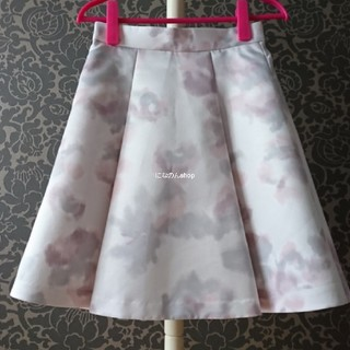 PROPORTION BODY DRESSING - プロポーションボディドレッシング ぼかしフラワースカート 清楚なライトグレー