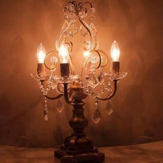 Francfranc - アンティーク シャンデリア 店舗照明 姫系 美女と野獣 テーブルランプ 照明