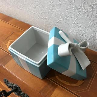 ティファニー(Tiffany & Co.)のティファニーTiffany 陶器 小物入れ 希少largeサイズ(その他)